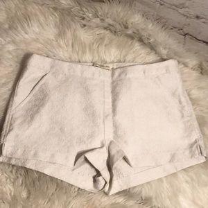 SEXY ABERCROMBIE WHITE SHINY GLITTER WHITE SHORTS